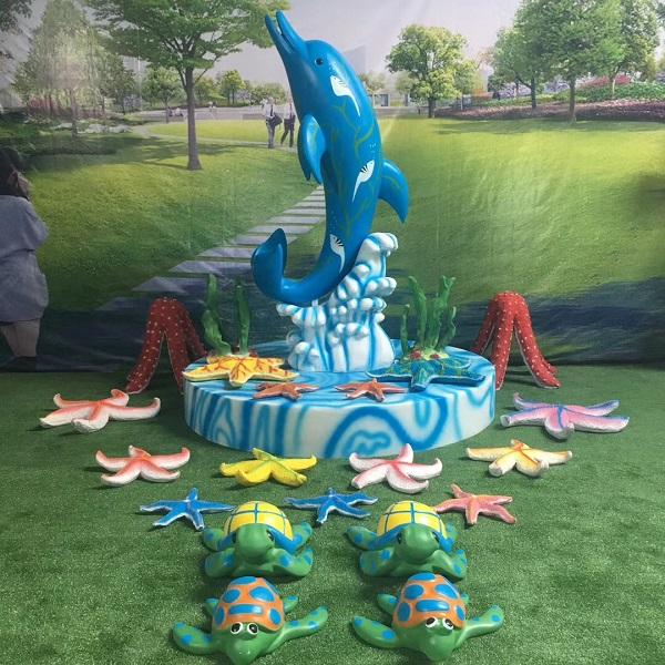 夏季海洋主题玻璃钢雕塑